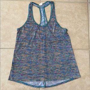 Colorful workout tank Ideology size M worn once